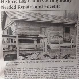 Antique Log Home Repair