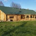 Preparing a Log Home to Be Cleaned and Stained