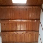 AFTER: Beautiful Wood Ceiling Finish