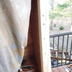 Log Wall Flush With Door Frame